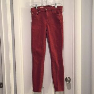 Gap Resolution True Skinny Jeans in Red